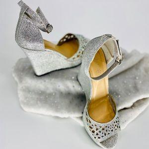 JASMINE-Size 8-Rhinestone Glitter Chunky Heels